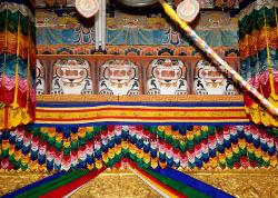Punaka Dzong doorway art, Bhutan