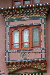 Window, architecture, Bhutan