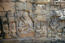 Carving on the terrace of the leper king at Angkor Thom