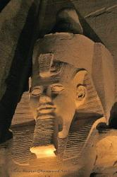 Face of Ramses II at Abu Simbel, Egypt