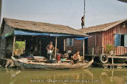 Floating home on the Tonle Sap