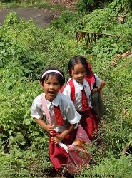 children of Penen Sumatra Indonesia