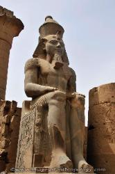 Statue of a Pharaoh, Temple of Luxor, Egypt