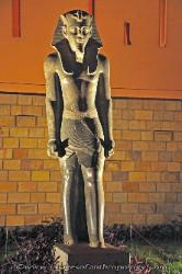 Statue outside the museum at Luxor, Egypt
