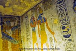 Tomb painting, Valley of the Kings, Egypt