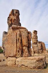 Colossi of Memnon, West Bank of the Nile at Luxor, Egypt