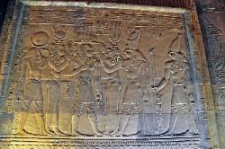 Gods and Goddesses at the Temple of Kom Ombo, Egypt