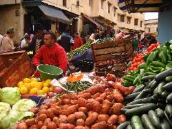 Vegetable market in Marrakech Morocco image 1