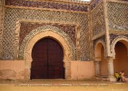 Archway to the palace, Meknes Morocco