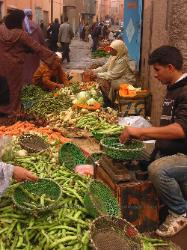 Vegetable market in Marrakech Morocco image 2
