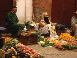 Vegetable market in Marrakech Morocco image 3