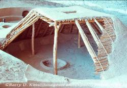 reconstructed Modified Basketmaker pit house, Step House ruins, Mesa Verde National Park, Colorado