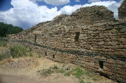 Anasazi wall, Aztec ruins national Monument, New Mexico