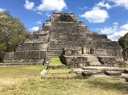 Mayan pyramid at Chacchoben, Yucatan, Mexico