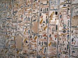 Tomb hieroglyphics, Valley of the Kings, Egypt