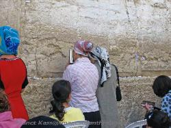 Women praying at the Western Wall, Jerusalem, Israel
