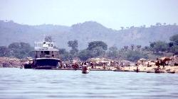 Riverboat on the Oubangui river, near Bangui, Central African Republic