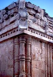 Mayan building with Quetzalcoatl mask, Yucatan, Mexico