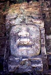Mayan figure at Lamanai, Belize