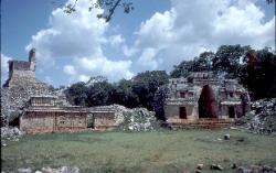 Mayan site of Labna, with the Observatory and the great corbelled arch, Yucatan, Mexico