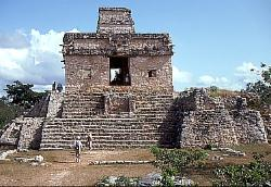 Mayan temple platform at Dzibilchaltun, Mexico
