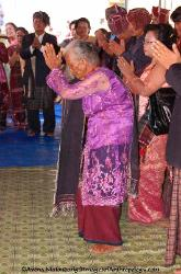 Somba reverence towards the elders, Parmalim community Sumatra Indonesia