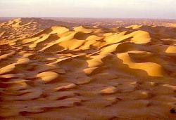 Vista of the Sahara desert, Algeria
