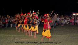 War dance of Nias Sumatra Indonesia