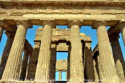 Interior, the Temple of Concordia, Valley of the Temples, Agrigento, Sicily