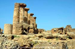 The Temple of Olympian Zeus, Valley of the Temples, Agrigento, Sicily