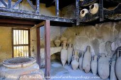 Storage room with pottery vessels, Herculaneum, Italy