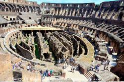 Interior of the Coliseum, Rome, Italy