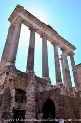 The Temple of Saturn, The Roman Forum, Italy