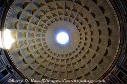 Interior, Dome of the Pantheon, Rome, Italy