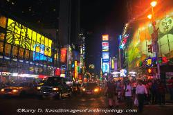 Times Square, New York City, in the nighttime