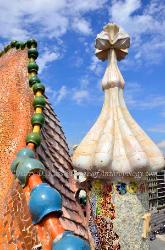 Rooftop of the Casa Batllo, Barcelona, Spain
