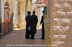 Orthodox Jewish men in Safed, Israel