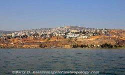 View of Tiberias from the Sea of Galilee, Israel