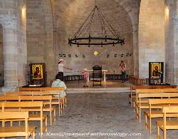 Interior, the Church of the First Feeding of the Multitude at Tabgha, Israel