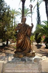 Statue of St. Peter at Capernaum, Israel