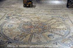 Floor mosaic at the Synagogue at Bet-Alpha, Israel image 2
