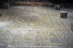 Floor mosaic at the ancient synagogue of Bet-Alpha, Israel image 1