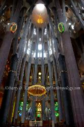 Interior, La Sagrada Familia, Barcelona, Spain