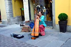 Street musician,Bellagio,Lake Como,Italy