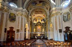 Church interior,Como,Italy