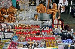 Religious items for sale, Jewish quarter, Jerusalem, Israel