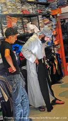 Men's clothing shop, Muslim quarter, Jersalem, Israel