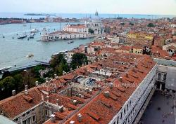 View of the lagoon from the Campanile,Venice,Italy