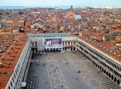 View of St. Mark's Square from the Campanile,Venice,Italy