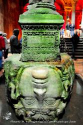 Turkey  upside down Medusa head pedestal in the Basilica Cistern in Istanbul